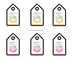 you're a Real Cutie free Valentine's Printable