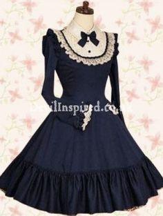 Navy Blue Gothic Classic Lolita Dress