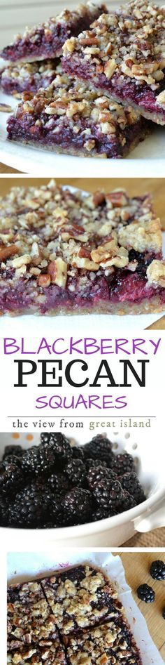 I look forward to a batch of these Blackberry Pecan Crumble Squares every summer when berry picking season is in full swing.  But these are too good to pass up during the rest of the year, so feel free to use use your favorite jam.