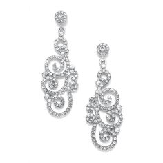 Vintage Jewel Encrusted Wholesale Prom or Wedding Earring - Mariell Bridal Jewelry & Wedding Accessories