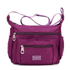 SOYATER Perfect Pockets Nylon Crossbody Bag S6059, 6 Colors Available