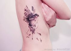 Bird on rib cage by Handitrip