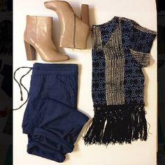 Studio Y boho crochet crop top Geometric, light weight, crochet trimmed, crop top. Perfect condition! Size: L Studio Y Tops Crop Tops