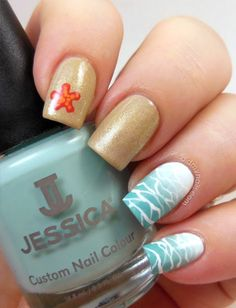 beach nail art http://www.didmynails.com/2013/06/twinsie-tuesday-beach.html