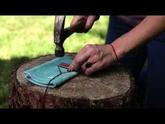 Quick tutorial on making flattened copper jTutoriales de manualidades. Flores Fieltro