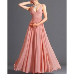 Alluring Spaghetti Strap Solid Color Maxi Dress For Women