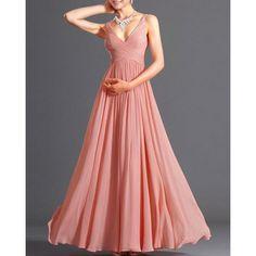 Alluring Spaghetti Strap Solid Color Maxi Dress For Women