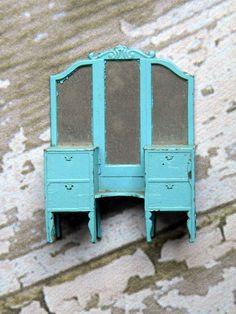 Image result for vintage solid wood dollhouse furniture
