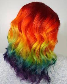 dyed hair everywhere Neon Hair, Purple Hair, Hairstyles Haircuts, Cool Hairstyles, Unicorn Hair Color, Headbands For Short Hair, Creative Hair Color, Pretty Hair Color, Candy Hair