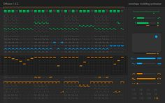 Diffusion waveshape modelling synthesiser plug-in from Sinevibes #audiounits