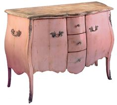 Marie Antoinette chest  I never thought of pink furniture so much until now. I keep finding pink, & like it!