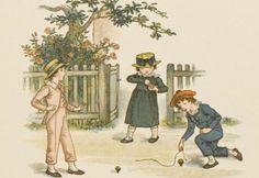 las peonzas o tops eran uno de los juguetes favoritos de los niños.  Estaban hechas de madera y había diferentes modelos y formas; algunas se lanzaban con una cuerda a la que estaban atadas, otras tenían una clavija. Entre las más populares estaban las peg tops y las humming tops.