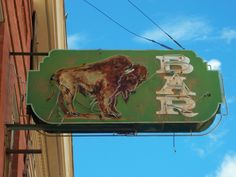 "Buffalo Bar, Silver City, NM. Across the street from the shop, ""Antiquarian"". 9na"