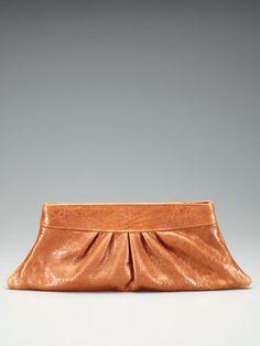 Lauren Merkin - Louise Glitter Bubble Lamb Clutch  (cognac)  #purse #handbag