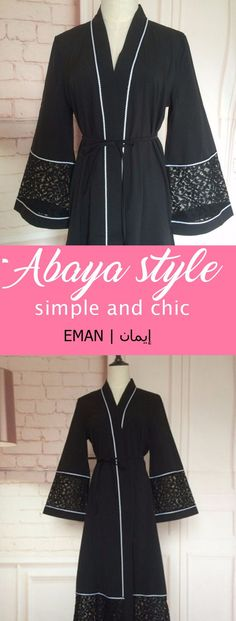 simple and chic abaya styles and dubai styles for Muslims women #affiliate