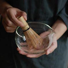 (1) Glass Matcha Bowl – Vanilla Bean Matcha Tea Set, Matcha Bowl, Matcha Green Tea, Japanese Matcha Tea, Matcha Whisk, Tea Container, Glass Texture, Tea Ceremony, Bowl Set