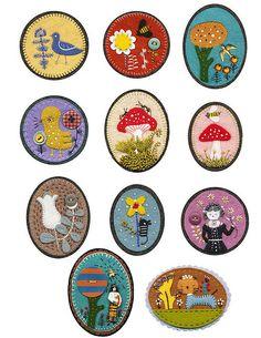 Wool felt brooches by the multi-talented elsa mora (elsita)