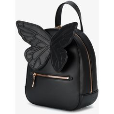 Sophia Webster Kiko butterfly backpack ($685) ❤ liked on Polyvore featuring bags, backpacks, leather daypack, leather zip backpack, leather knapsack, flower backpack and leather one shoulder backpack