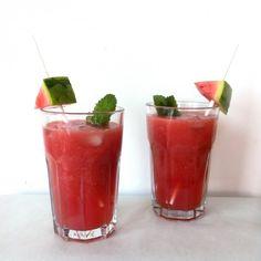 » Watermeloen-aardbei cocktail