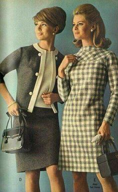 I had that dress on the right.  My mom made for me.  In plaid with bias on yoke.  Seems like in middle school.