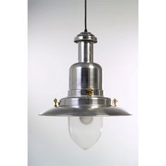 Extra Large Silver Fisherman's Pendant Light this UK made light is in a traditional design, but with its raw aluminium finish and bold size will add to any industrial look you are creating