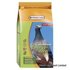 Versele Laga Colombine Energy Corn Plus Pigeon Food I C 15kg Versele Laga Colombine Energy Corn Plus I C provides great overall support for the muscles, feathers & internal organs of racing pigeons that are in hard work.