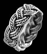10 mm. Flätad ring i Silver.
