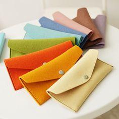 colourful felt pouch - simple