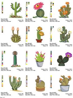 Cactus Free Embroidery       Direct Download Google Docs