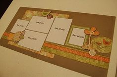 """November 2010 """"Super Saver Scrapbooking"""" layouts -- (substitute set of layouts)"""