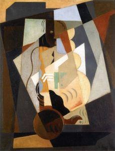 Still Life - Woman with Mandolin - Maria Blanchard - The Athenaeum