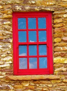 Abandoned Great Hunger Farm Slea Head   County Kerry Red Windows, Continental Europe, Western Coast, Irish Sea, Ireland Travel, Great Britain, Gates, Abandoned, June