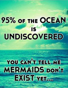 Well, why can't mermaids exist!? And part of our evolution was in water, so what if some people evolved more than others!?