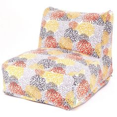 Majestic Home Goods 85907220376 Citrus Blooms Bean Bag Chair Lounger