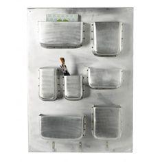 Aluminium wall storage - House Doctor Dk Measure: 70 x 51 x 8 cm  £125.00