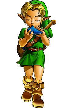View an image titled 'Young Link & Ocarina Art' in our The Legend of Zelda: Ocarina of Time art gallery featuring official character designs, concept art, and promo pictures. Kodama Tattoo, Video Game Art, Video Games, Legend Of Zelda Tattoos, 3d Art Gallery, Ocarina Of Times, Link Art, Link Zelda, Twilight Princess