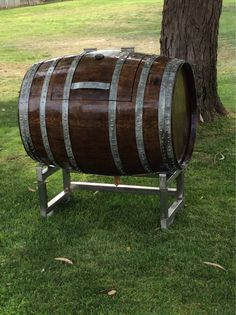 Whole wine barrel ice chest