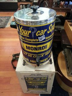Monroe Shock absorbers Dealership coffee maker 1960s Bought $25 sold $100 Total now. $6,620