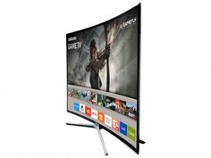 """Smart TV LED Curva 40"""" Samsung Full HD 40K6500 - Conversor Digital 3 HDMI 2 USB Wi-Fi com as melhores condições você encontra no Magazine Casadaprosperida. Confira!"""