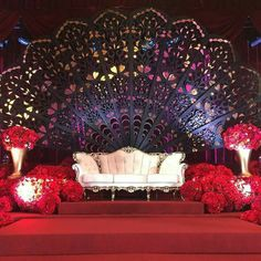 24 Gorgeous Wedding Stage Decoration Ideas & Themes That Will Leave You Speechless! 24 Gorgeous Wedding Stage Decoration Ideas & Themes That Will Leave You Speechless!This Wedding Season Let's Create Magic With Dazzling Reception Stage Decor, Wedding Backdrop Design, Wedding Hall Decorations, Wedding Reception Backdrop, Marriage Decoration, Wedding Mandap, Backdrop Decorations, Wedding Themes, Backdrops