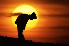 """""""Rabbi Chiya says that when the sun begins to set, the energy of the sun is less powerful, and that is when the left dominates and judgements pertain. At that time one must pray."""" pg 4 vol 18    Prayer by Photographer Irving Lubis   #Photography #Sunset #Silhouette #Pray"""