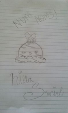 This is my other drawing of a num nom, it's nilla swirl!