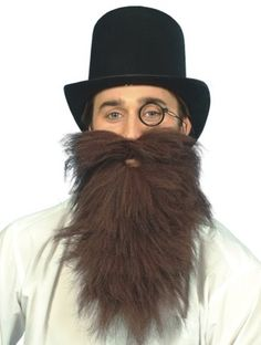 long brown tache and beard from angels angels fancy dress costumes - Jase Robertson Halloween Costume