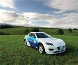 Mazda RX-8 Hydrogen RE 2009   hydrogen - 2-3x more power than gas  the oil companies worst nightmare  and only true green fuel generated   from wind and solar power