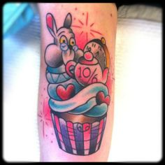 Disney cupcake tattoo...look @Denise H.!! Very cute :)