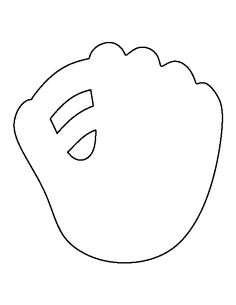 Baseball mitt pattern. Use the printable outline for crafts, creating stencils, scrapbooking, and more. Free PDF template to download and print at http://patternuniverse.com/download/baseball-mitt-pattern/