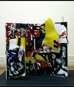 211. Emilio Vedova, Plurimo n 1, le mani addosso 1962 base 1,40 tavola Roma Galleria Nazionale d'arte Moderna