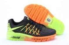 Nike Air Max 2015 Australia Mens Running Shoes Black Fluorescence Green Online Cheap