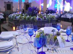 Corporate Event in blue Flowers by ANNAFIORI
