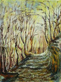 ANGELINAS WALK, original painting by Emilia Milcheva, 52x70cm